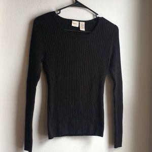 Women's Merona Ribbed Black Sweater Size Large